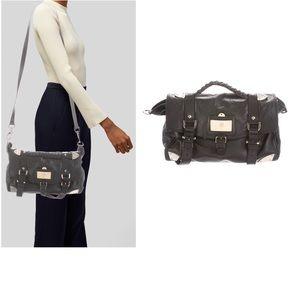 MULBERRY Black Buffalo Leather Satchel Bag